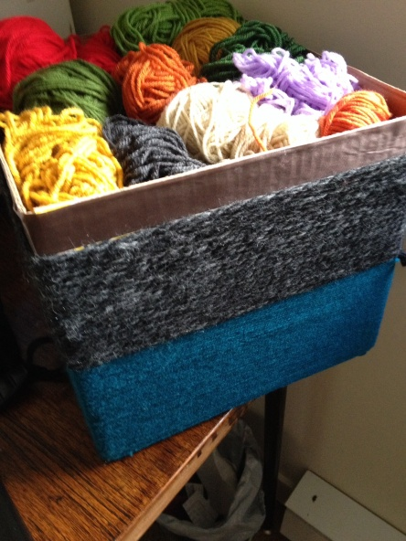 Homemade yarn box